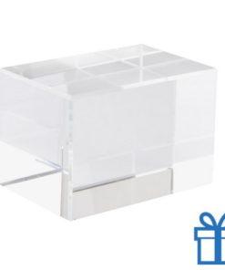 Glazen kubus karton bedrukken