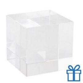Glazen kubus magneet bedrukken