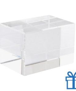 Glazen prismageschenkverpakking bedrukken