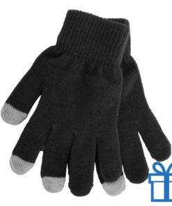 Handschoen touch vingertop zwart bedrukken