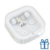 Headset verschillende oordopjes wit bedrukken