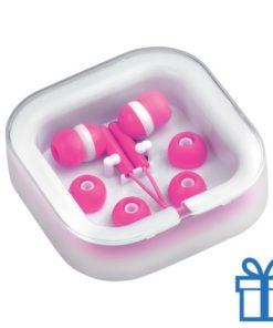 Headset verschillende oordopjes zilver bedrukken