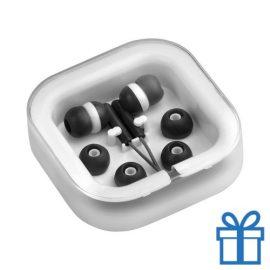 Headset verschillende oordopjes zwart bedrukken