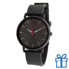 Horloge unisex zwart bedrukken