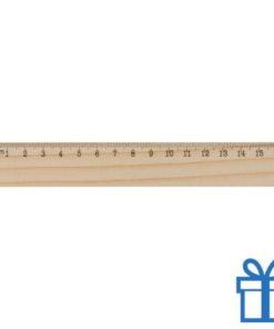 Houten liniaal 16 cm goedkoop bedrukken