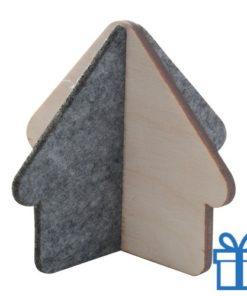 Huis figuur hout vilt bedrukken