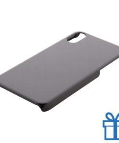 Iphone® x-hoesje goedkoop zwart bedrukken