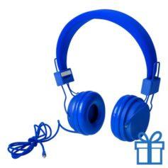 Koptelefoon fijn blauw bedrukken