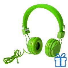 Koptelefoon fijn groen bedrukken