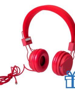 Koptelefoon fijn rood bedrukken