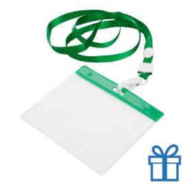 Lanyard PVC naamkaarthouder groen bedrukken