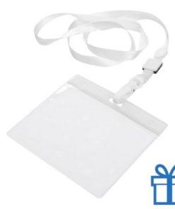Lanyard PVC naamkaarthouder wit bedrukken