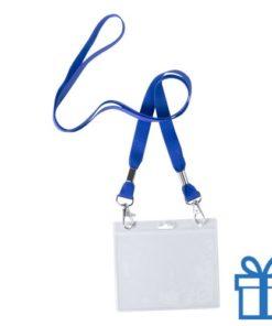 Lanyard badgehouder blauw bedrukken
