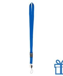 Lanyard gesp blauw bedrukken