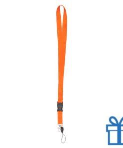 Lanyard gesp oranje bedrukken