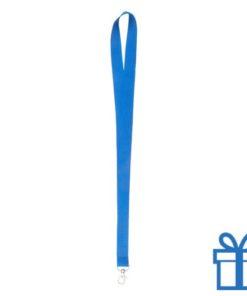 Lanyard poly lichtblauw bedrukken