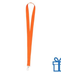 Lanyard poly oranje bedrukken