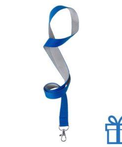 Lanyard tweekleuren blauw bedrukken