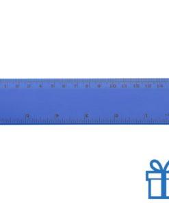 Lineaal budget 15 cm blauw bedrukken