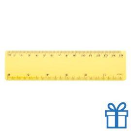Lineaal budget 15 cm geel bedrukken