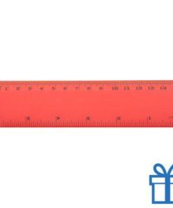 Lineaal budget 15 cm rood bedrukken