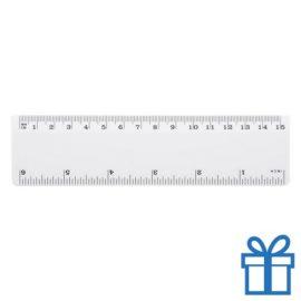 Lineaal budget 15 cm wit bedrukken