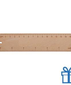 Liniaal hout goedkoop 15 cm bedrukken