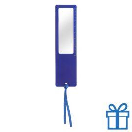 Liniaal vergrootglas 8cm blauw bedrukken