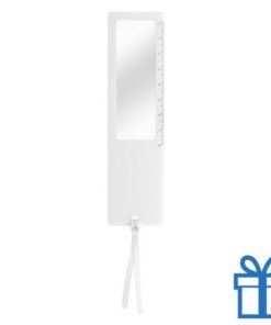 Liniaal vergrootglas 8cm wit bedrukken