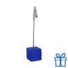 Memoclip gekleurd metaal blauw bedrukken