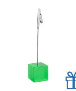 Memoclip gekleurd metaal groen bedrukken