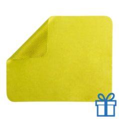 Microvezel muismat cleaner geel bedrukken