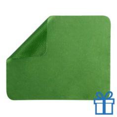 Microvezel muismat cleaner groen bedrukken