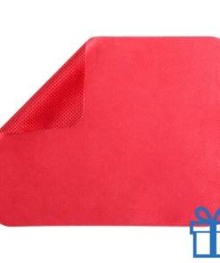 Microvezel muismat cleaner rood bedrukken