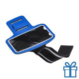 Mobiele armband reflecterend blauw bedrukken
