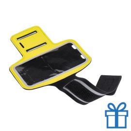 Mobiele armband reflecterend geel bedrukken