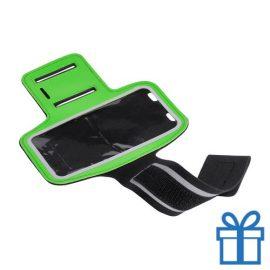 Mobiele armband reflecterend groen bedrukken