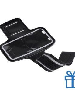 Mobiele armband reflecterend zwart bedrukken