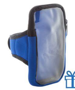 Mobiele telefoon armband hoes blauw bedrukken
