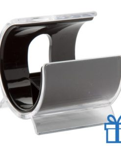 Mobiele telefoon en tablet houder zwart bedrukken