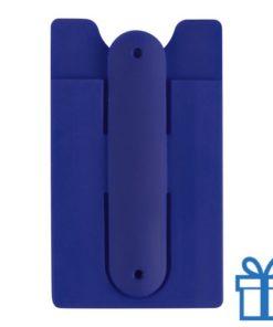 Mobiele telefoon standaard silicoon blauw bedrukken