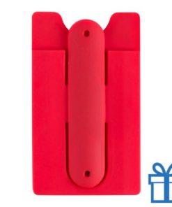 Mobiele telefoon standaard silicoon rood bedrukken