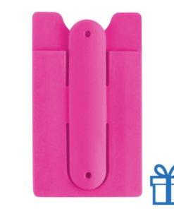 Mobiele telefoon standaard silicoon roze bedrukken