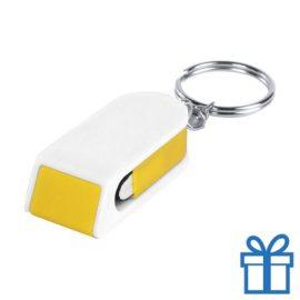 Mobiele telefoonhouder goedkoop geel bedrukken