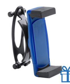Mobiele telefoonhouder plastic goedkoop blauw bedrukken