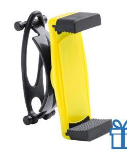 Mobiele telefoonhouder plastic goedkoop geel bedrukken