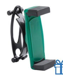 Mobiele telefoonhouder plastic goedkoop groen bedrukken