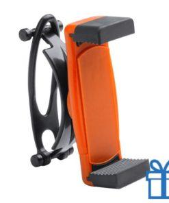 Mobiele telefoonhouder plastic goedkoop oranje bedrukken