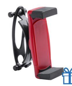 Mobiele telefoonhouder plastic goedkoop rood bedrukken