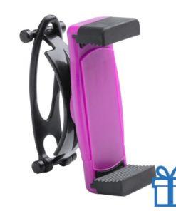 Mobiele telefoonhouder plastic goedkoop roze bedrukken